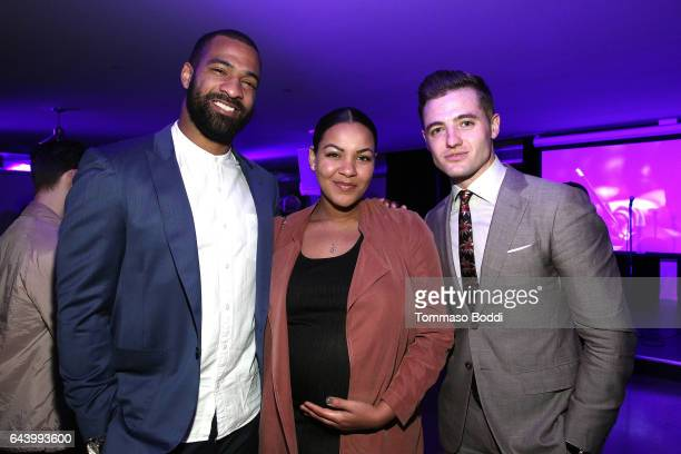Football player Spencer Paysinger Blair Paysinger and soccer player Robbie Rogers attend The World Wide Orphans Foundation Annual Night Of Play...