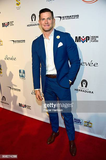 Football player Steve Weatherford attends Glazer Palooza and Suits and Sneakers on February 3 2016 in San Francisco California