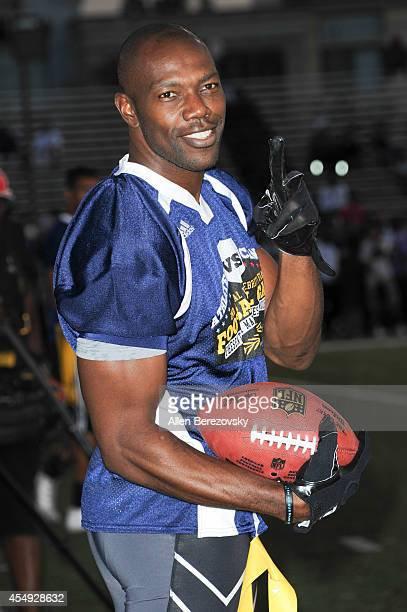 Football player Terrell Owens attends the 2nd Annual Celebrity Flag Football Game benefiting Athletes VS Cancer at Granada Hills Charter High School...