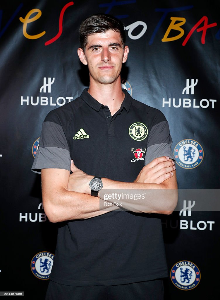 Football Player Thibaut Courtois attends Hublot x Chelsea FC event in Los Angeles at Sony Pictures Studios on July 28, 2016 in Culver City, California.