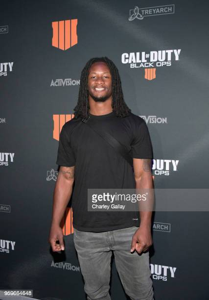 Football player Todd Gurley II arrives on the black carpet at the Call of Duty: Black Ops 4 Community Reveal Event in Hawthorne, CA, on May 17, 2018.
