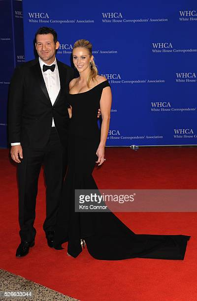 Football Player Tony Romo and Candace Crawford Romo attend the 102nd White House Correspondents' Association Dinner on April 30 2016 in Washington DC