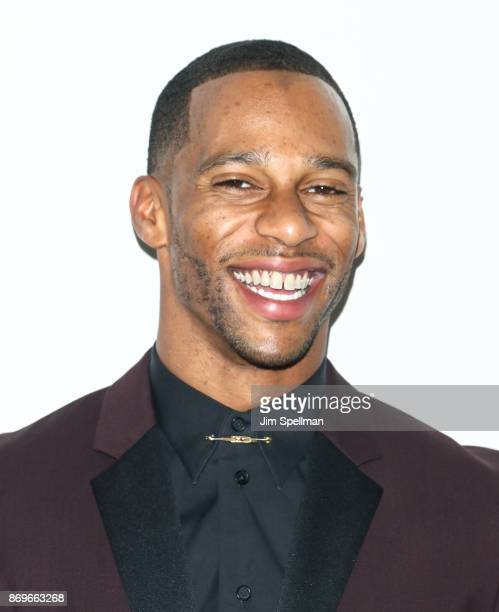 Football player Victor Cruz attends the 2017 Samsung Charity Gala at Skylight Clarkson Sq on November 2 2017 in New York City