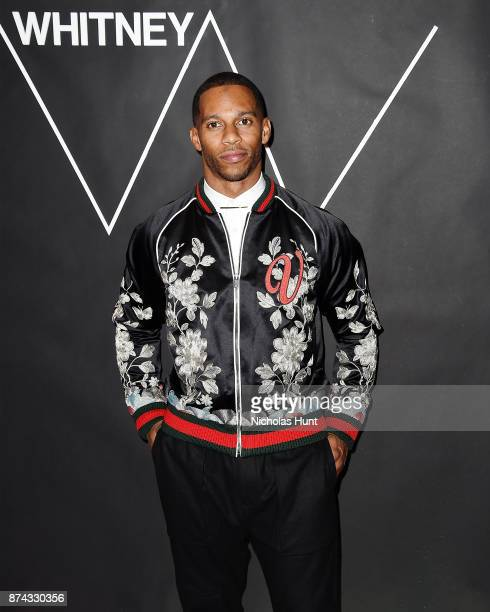 Football Player Victor Cruz attends the 2017 Whitney Art Party at The Whitney Museum of American Art on November 14 2017 in New York City