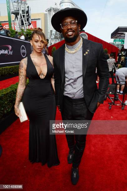 Football player Von Miller attends the 2018 ESPY Awards Red Carpet Show Live Celebrates With Moet Chandon at Microsoft Theater on July 18 2018 in Los...