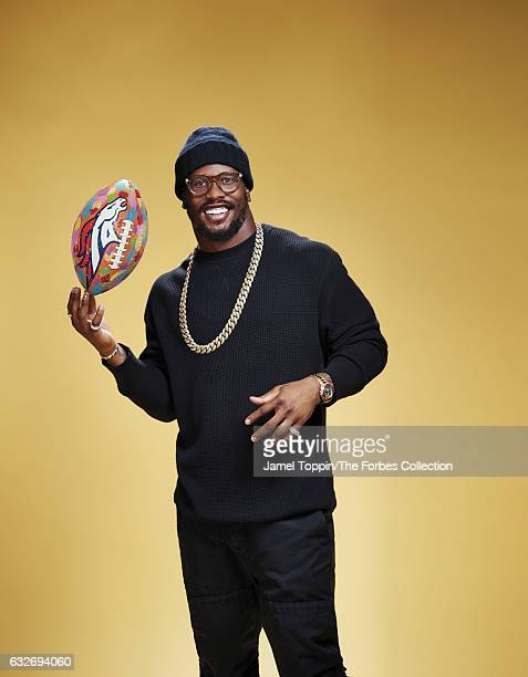 Football player Von Miller is photographed for Forbes Magazine on December 5 2016 in New York City PUBLISHED IMAGE CREDIT MUST READ Jamel Toppin/The...