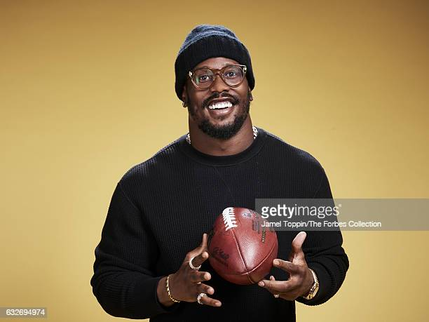Football player Von Miller is photographed for Forbes Magazine on December 5, 2016 in New York City. PUBLISHED IMAGE. CREDIT MUST READ: Jamel...