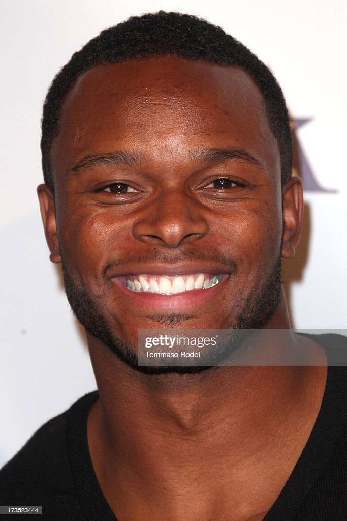 Football player Will Allen attends the 8th annual BTE All-Star Celebrity Kickoff Party held at The Playboy Mansion on July 15, 2013 in Beverly Hills, California.