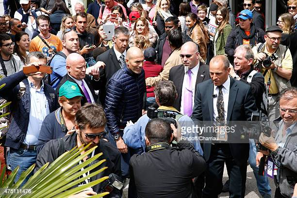 Football Player Zinedine Zidane attends the 2015 Roland Garros French Tennis Open Day Six on May 29 2015 in Paris France