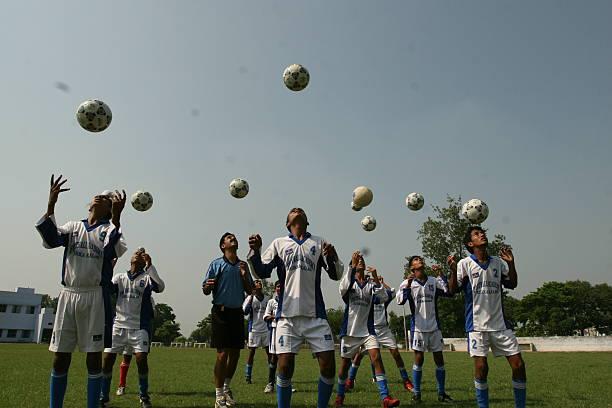 Football Players at Bhagat Singh Academy in Rurka Kalan Jalandhar Punjab India