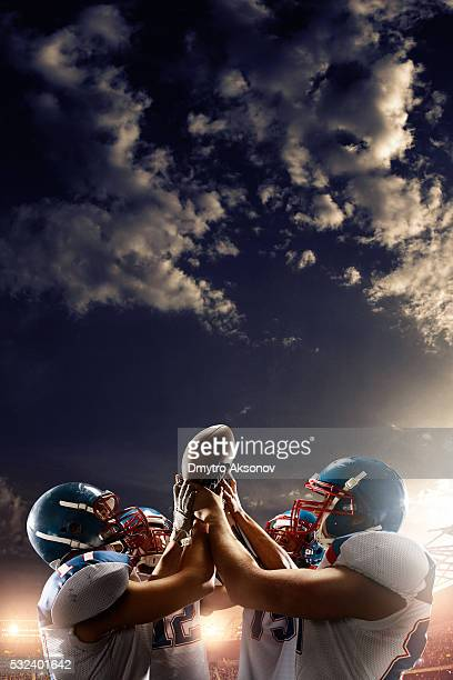 Football Players celebrate their victory