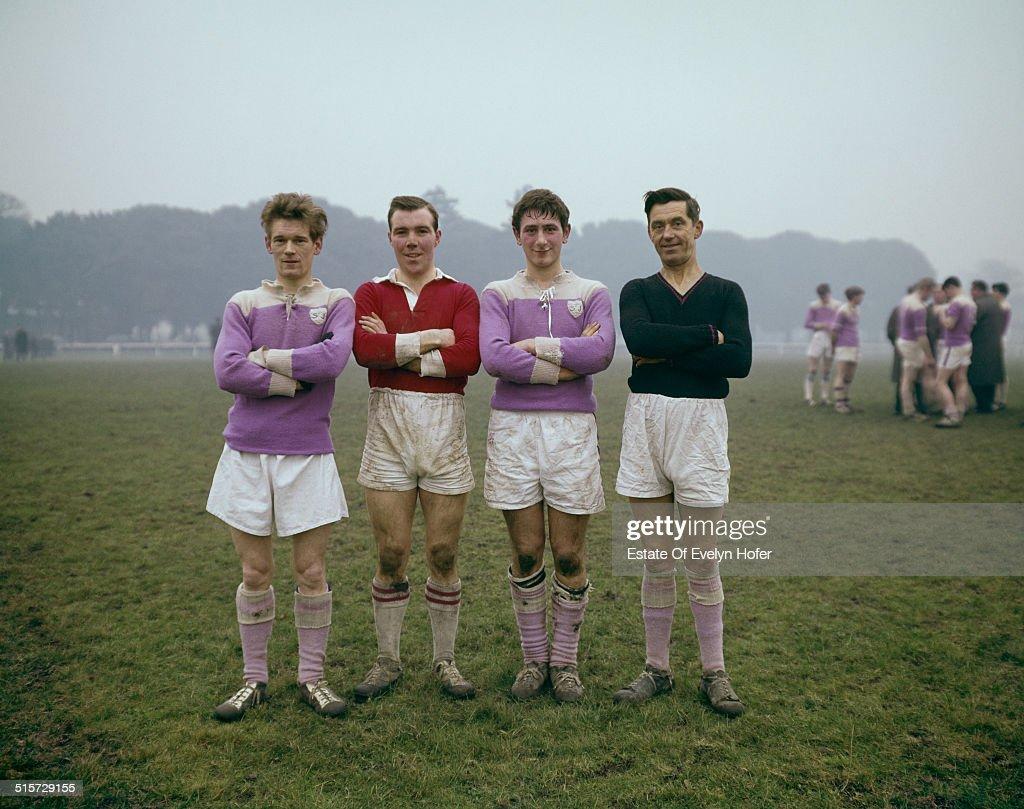 Football players in Phoenix Park, Dublin, 1966.
