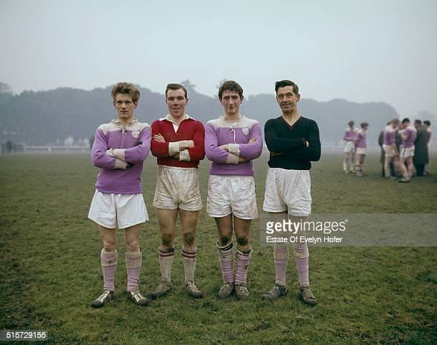 Football players in Phoenix Park Dublin 1966