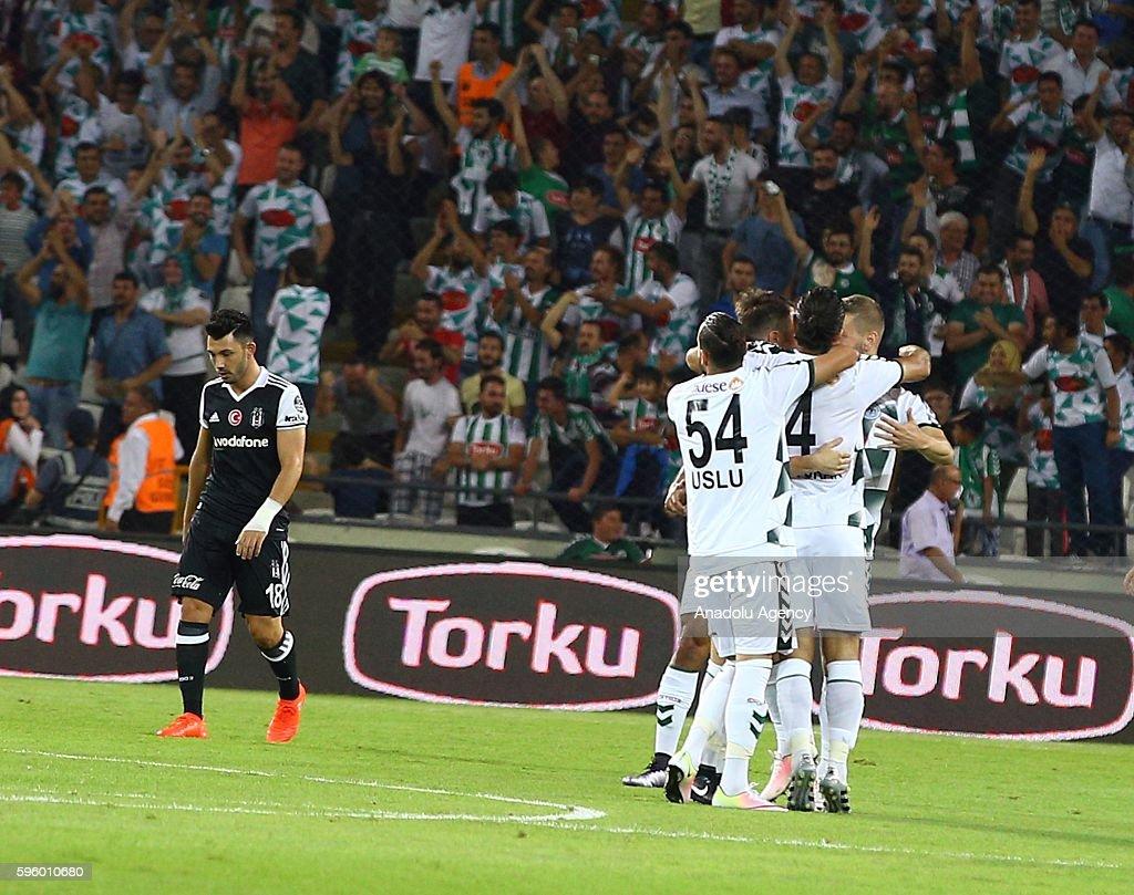 Atiker Konyaspor v Besiktas - Turkish Super Toto Super Lig : News Photo