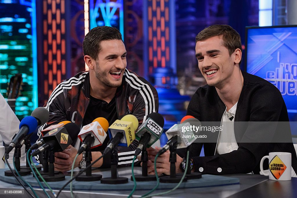 Koke and Griezzmann Attend 'El Hormiguero' Tv Show