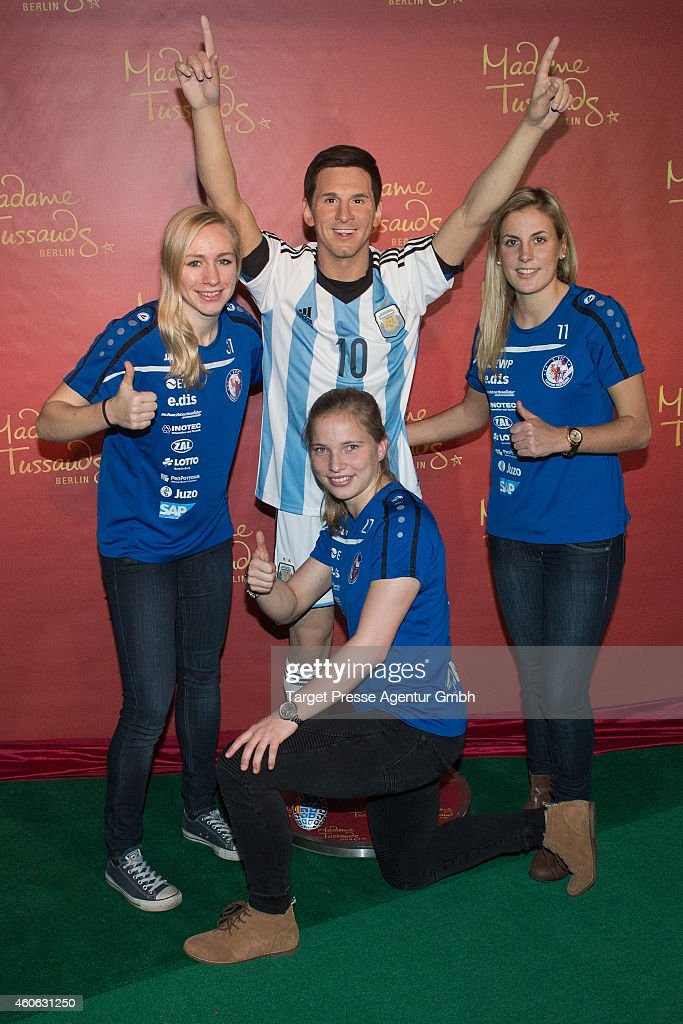 Unveiling Of Lionel Messi Wax Figure In Berlin