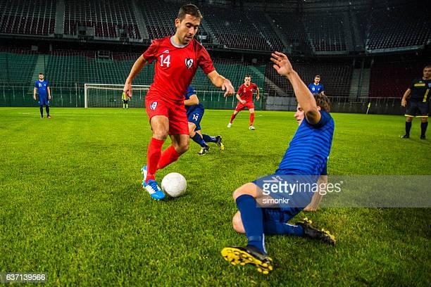 Football players playing football