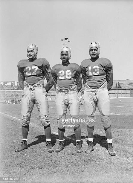 UCLA football players Woodrow Strode Jack Robinson and Kenny Washington