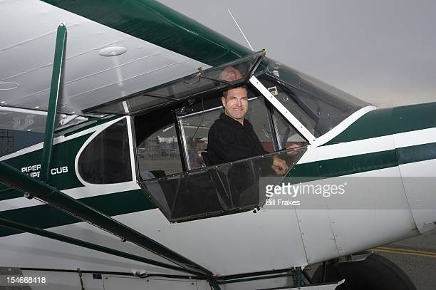 Portrait of former NFL kicker Jason Elam during photo shoot in his plane, a tandem-seat 1966 Piper Super Club. Elam, a Florida native who hit a game...