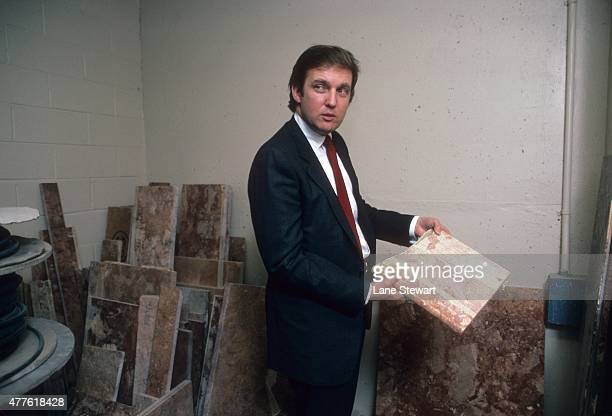 Portrait of New Jersey Generals owner and real estate businessman Donald Trump during photo shoot at his office New York NY CREDIT Lane Stewart