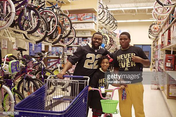 Portrait of New Orleans Saints running back Mark Ingram during Mark Ingram Foundation charity event at Academy Sports Outdoors Ingram's charitable...