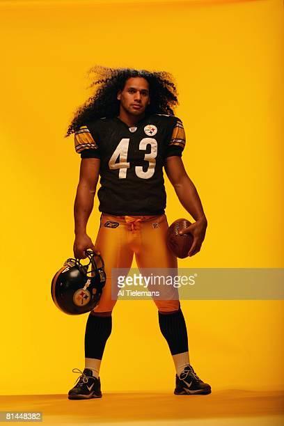 Football Portrait of Pittsburgh Steelers Troy Polamalu Pittsburgh PA 11/2/2005