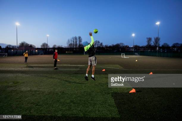 football practice - training grounds stock pictures, royalty-free photos & images