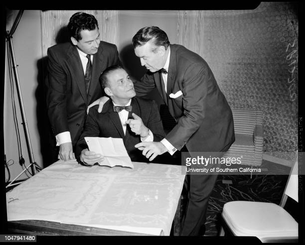 Football professional January 7 1960 New coach for new American League team the ChargersBarron HiltonSid GillmanFrank Leahy Caption slip reads...