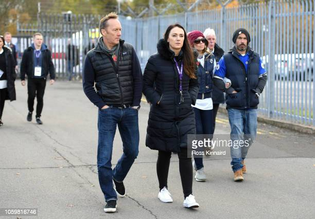 Football pundit Lee Dixon on his way to look at the tributes which have been laid for Leicester City chairman Vichai Srivaddhanaprabha prior to the...
