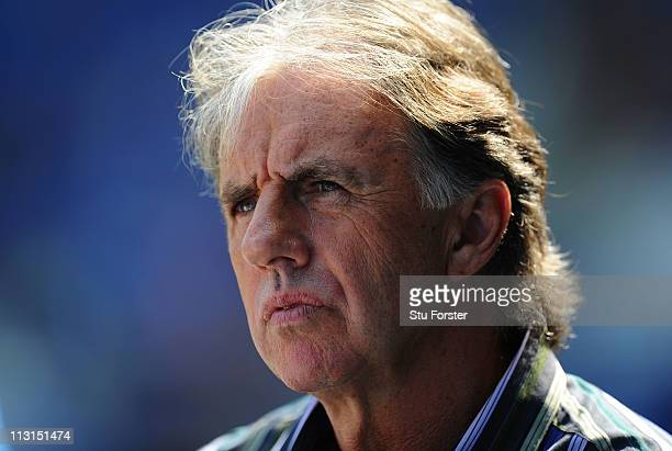 Football pundit Mark Lawrenson looks on before the npower Championship game between Cardiff City and Queens Park Rangers at Cardiff City Stadium on...