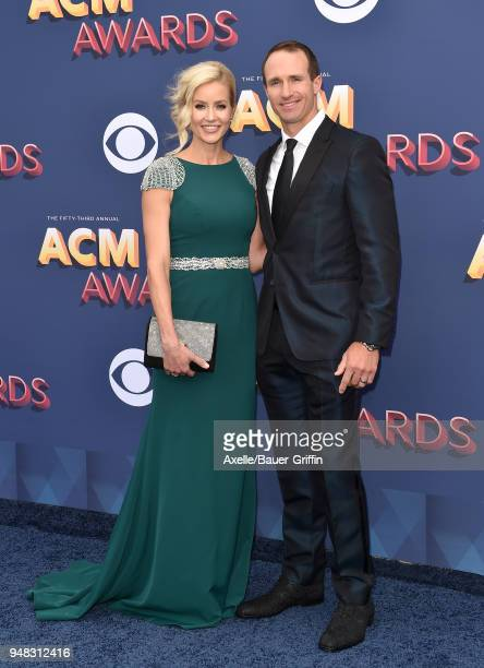 Football quarterback Drew Brees and Brittany Brees attend the 53rd Academy of Country Music Awards at MGM Grand Garden Arena on April 15, 2018 in Las...