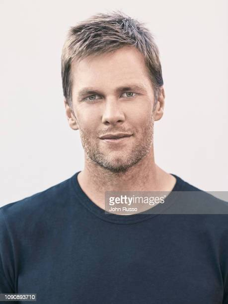 US football quarterback Tom Brady is photographed on July 5 2018 in Los Angeles California