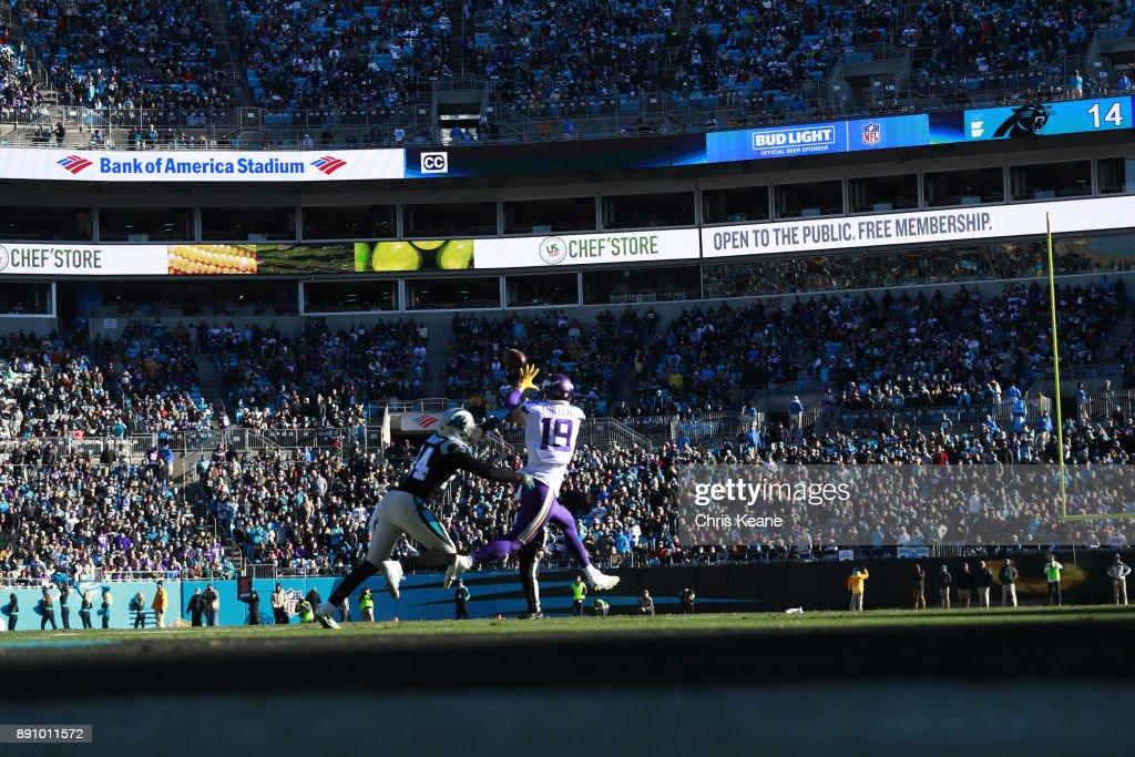 pretty nice 492bf ef773 Rear view of Minnesota Vikings Adam Thielen in action ...