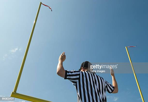 football referee calling field goal - american football referee stock pictures, royalty-free photos & images