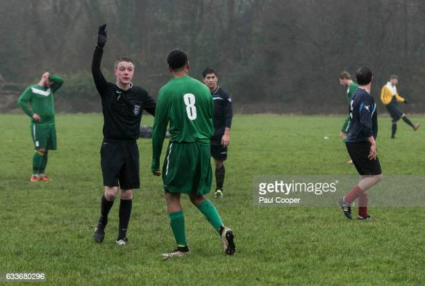 Football referee Ryan Hampson is photographed for the Telegraph on January 15 2017 in Manchester England