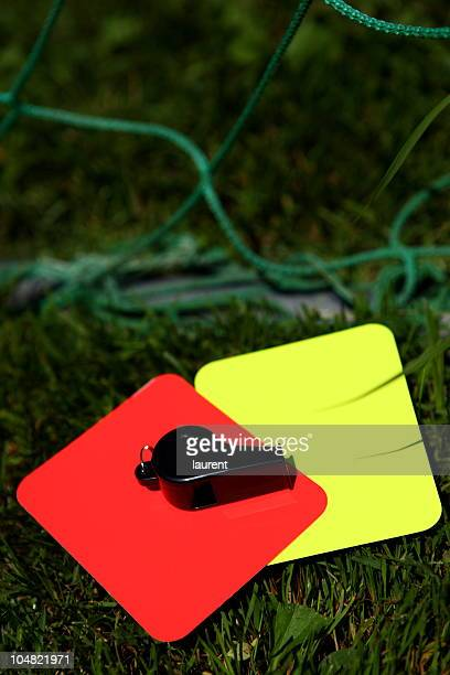 football referee set - red card stock pictures, royalty-free photos & images