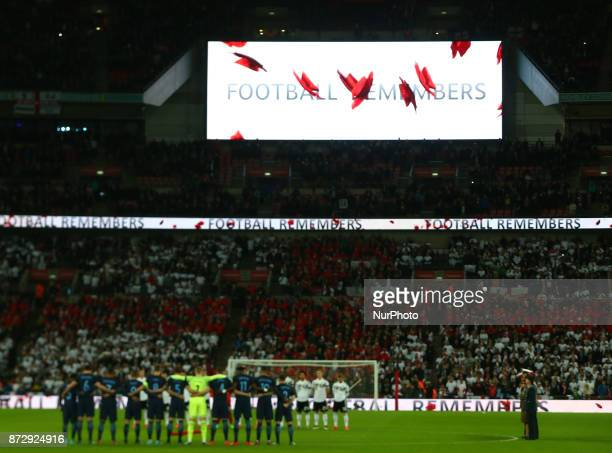 Football Remember during International Friendly match between England and Germany at Wembley stadium London on 10 Nov 2017