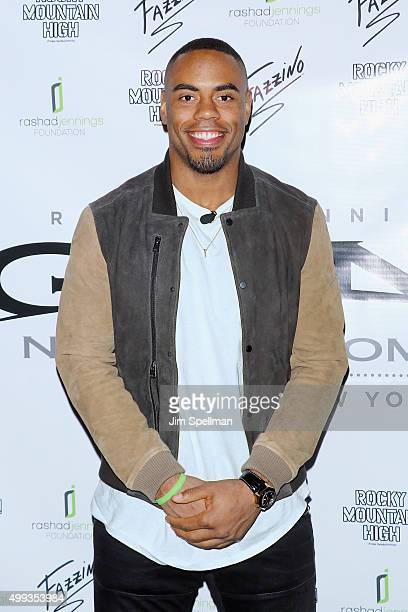 Football running back Rashad Jennings attends the 2015 Giant Night of Comedy at Gotham Comedy Club on November 30 2015 in New York City