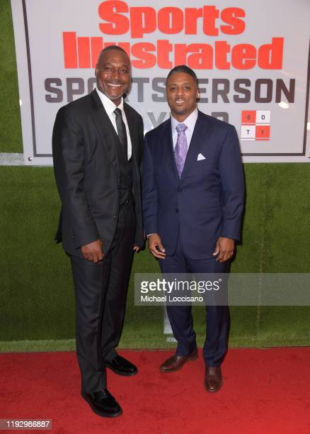 Football running backers Derrick Brooks and Warrick Dunn attend the 2019 Sports Illustrated Sportsperson Of The Year at The Ziegfeld Ballroom on...