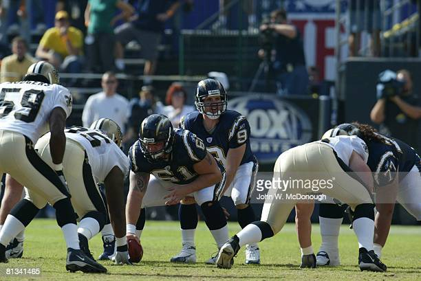 Football San Diego Chargers QB Drew Brees before snap during game vs New Orleans Saints San Diego CA 11/7/2004
