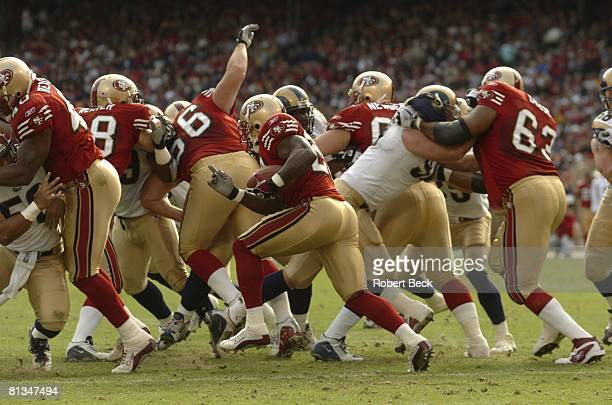 Football San Francisco 49ers in action vs St Louis Rams San Francisco CA 11/2/2003