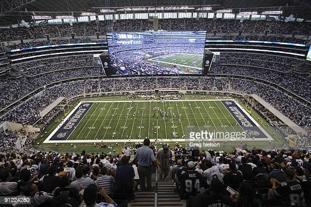 Scenic view of Cowboys Stadium HD scoreboard before Dallas Cowboys vs New York Giants Arlington TX 9/20/2009 CREDIT Greg Nelson