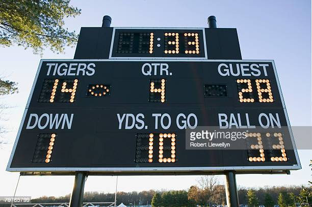 football scoreboard - scoreboard stock pictures, royalty-free photos & images