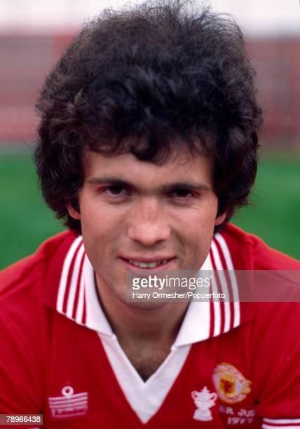 Football Season 1977/8 Manchester United Photocall A portrait of Chris McGrath