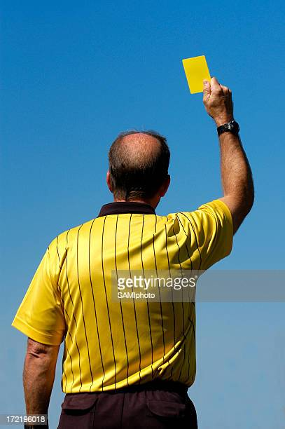 futbol series - yellow card stock pictures, royalty-free photos & images
