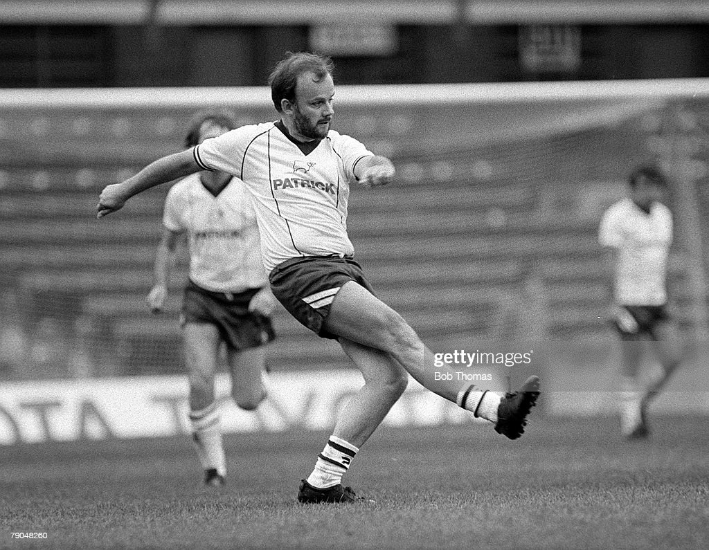Football. St. Andrews, Birmingham, England. 24th October 1982. Ron Saunders Soccer Care XI v Radio One DJs XI. Radio One Disc Jockey John Peel during the charity soccer match. : News Photo
