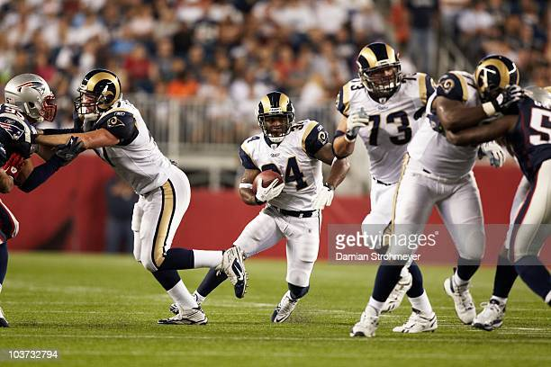 St Louis Rams Kenneth Darby in action rushing vs New England Patriots during preseason Foxboro MA 8/26/2010 CREDIT Damian Strohmeyer