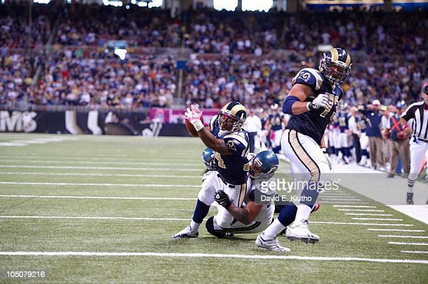 St Louis Rams Kenneth Darby in action rushing vs Seattle Seahawks Lofa Tatupu St Louis MO 10/3/2010 CREDIT David E Klutho