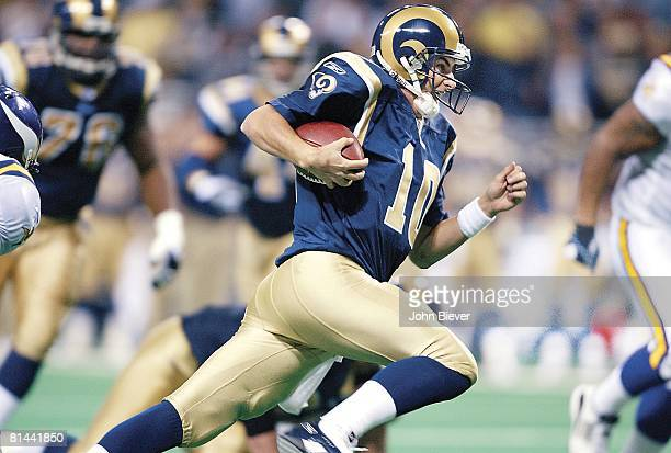 Football St Louis Rams QB Marc Bulger in action vs Minnesota Vikings St Louis MO