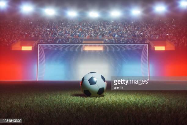 estádio de futebol à noite - futebol internacional - fotografias e filmes do acervo